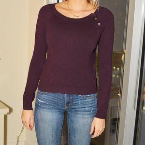 Purple Ann Taylor LOFT sweater